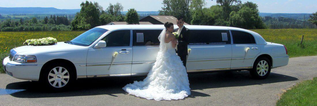 Mit Lincoln Limousine zur Hochzeit